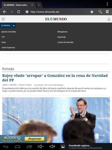 'Es noticia' en la versión móvil de Elmundo.es